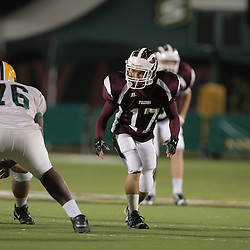 31 October, 2008: St. Thomas Aquinas LB/WB John Duhe (#17)  The St. Thomas Falcons recorded their first shut out of the season with a 41-0 shutout of the Southern Lab Kittens at Strawberry Stadium in Hammond, LA.