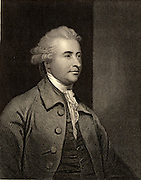 Edmund Burke (1729-1797) British philosopher, writer and Whig politician, born in Dublin, Ireland.  Engraving from 'The World's Great Men' (London, c1870).