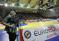 Handball EM Herren 2010 Hauptrunde Deutschland - Frankreich 24.01.2010 Feature; Fernsehen;