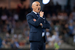February 23, 2019 - Melbourne, VIC, U.S. - MELBOURNE, VIC - FEBRUARY 23: Melbourne Victory head coach Kevin Muscat reacts at round 20 of the Hyundai A-League Soccer between Melbourne City FC and Melbourne Victory on February 23, 2019 at Marvel Stadium, VIC. (Photo by Speed Media/Icon Sportswire) (Credit Image: © Speed Media/Icon SMI via ZUMA Press)