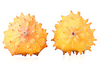 Close up of kiwano fruits