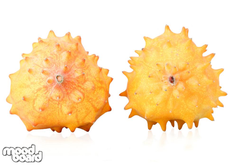 Close up of kiwano fruits