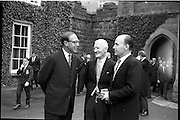31/05/1964<br /> 05/31/1964<br /> 31 May 1964<br /> Sesquicentenary (150 yrs) celebrations at Clongowes Wood College, Co. Kildare. Picture shows (l-r): H.E. the British Ambassador Sir Geofrey Tory; Mr. Patrick McGilligan T.D., President of the P.P.U. (Past Pupils Union) and Dr. P.J. Hillery T.D., Minister for Education.