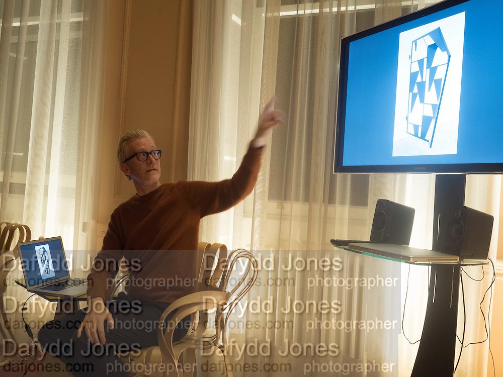 MARTIN BOYCE, GEMS AND LADDERS London Launch & Artist's Talk, 11 Mansfield Street, London. 24 November 2016