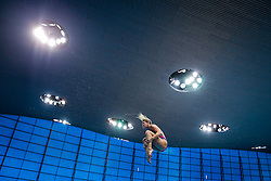 Grace Reid of Great Britian in action on the Womens 1m Springboard - Mandatory byline: Rogan Thomson/JMP - 11/05/2016 - DIVING - London Aquatics Centre - Stratford, London, England - LEN European Aquatics Championships 2016 Day 3.