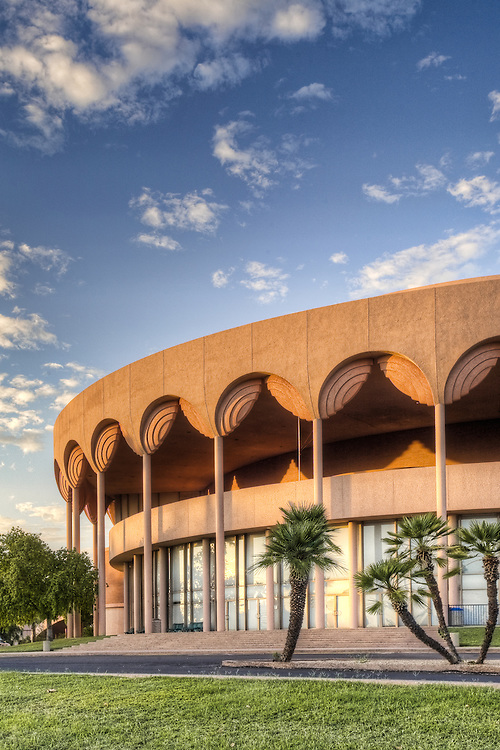 Architectural photograph of Gammage Auditorium at Arizona State University, Tempe, Arizona