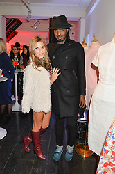MASON SMILLIE and ZOE HARDMAN at the Cointreau launch for Yumi by Lilah Parsons SS/16 collection held at 15 Bateman Street, London on 1st December 2015