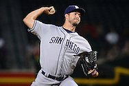 PHOENIX, AZ - JULY 06:  Colin Rea #29 of the San Diego Padres delivers a pitch during the first inning against the Arizona Diamondbacks at Chase Field on July 6, 2016 in Phoenix, Arizona.  (Photo by Jennifer Stewart/Getty Images)