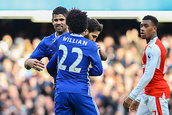 Goal, Cesc Fabregas of Chelsea capitalises on Petr Cech of Arsenal mistake, Chelsea 3-0 Arsenal - Mandatory by-line: Jason Brown/JMP - 04/01/2017 - FOOTBALL - Stamford Bridge - London, England - Chelsea v Arsenal - Premier League