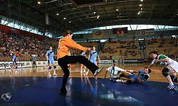 Goalkeeper of Slovenia Sergeja Stefanisin at handball game between women national teams of Slovenia and Belorussia, second qualification game for the European Chamionship 2009, on June 7, 2008, in Arena Zlatorog, Celje, Slovenija. Win of Belorussia, who qualified for EC 2009 in Macedonia. (Photo by Vid Ponikvar / Sportal Images)