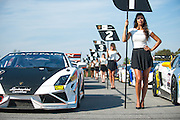 October 3-5, 2013. Lamborghini Super Trofeo - Virginia International Raceway. Grid girls.