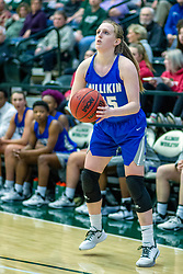 BLOOMINGTON, IL - January 04: Aubrey Staton  during a college women's basketball game between the IWU Titans  and the Millikin Big Blue on January 04 2020 at Shirk Center in Bloomington, IL. (Photo by Alan Look)