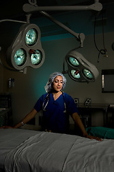 Prasanna Janaki Ananth, Stanford Medical student in operating room at Stanford Hospital.