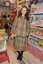 LONDON, ENGLAND 1 DECEMBER 2016: Sophie Ellis-Bextor at the 10th birthday party for the toy shop HoneyJam, 2 Blenheim Crescent, Notting Hill, London, England. 1 December 2016.