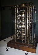 Babbage's Difference Engine No. 1, 1832.  This trial portion of the Difference Engine is one of the earliest automatic calculators, an icon in the prehistory of the computer.