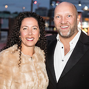 NLD/Amsterdam/20161008 - JFK Greatest Man 2016, Ruben van der Meer en partner Sally Lodewijks