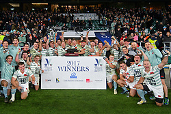 December 7, 2017 - London, England, United Kingdom - Cambridge are winner of the Mens Varsity match between Oxford University  and Cambridge University  at Twickenham Stadium, London, England on 7 Dec 2017. (Credit Image: © Kieran Galvin/NurPhoto via ZUMA Press)