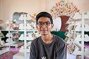 ICS volunteer Luna Boran in the library of the local school in the village of Banteay Char, near Battambang, Cambodia.