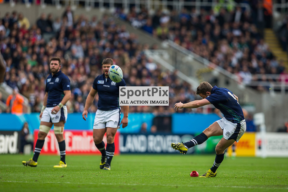 Greig Laidlaw in action during the Rugby World Cup match between Scotland and Samoa (c) ROSS EAGLESHAM | Sportpix.co.uk