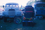 Trucks at the Unfairground, Glastonbury, 1994.