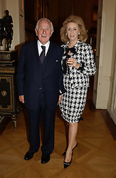 LORD & LADY WOLFSON OF MARYLEBON at a reception to open an exhibition entitled 'Boucher Seductive Visions' at The Wallace Collection, Manchester Square, London W1 on 29th September 2004.NON EXCLUSIVE - WORLD RIGHTS