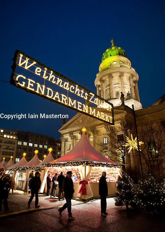 Traditional Christmas Market at Gendarmenmarkt in Mitte Berlin Germany 2009