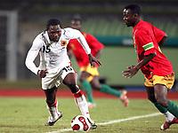 Fotball<br /> 20.11.2007<br /> Angola v Guinea<br /> Foto: Dppi/Digitalsport<br /> NORWAY ONLY<br /> <br /> FOOTBALL - FRIENDLY GAMES 2007/2008 - ANGOLA v GUINEA - 20/11/2007 - DEDE (ANG) / PASCAL FEINDOUNO (GUI)