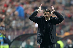 February 21, 2019 - Lisbon, Portugal - Coach Bruno Lage of SL Benfica in action during the Europa League 2018/2019 footballl match between SL Benfica vs Galatasaray AS. (Credit Image: © David Martins/SOPA Images via ZUMA Wire)