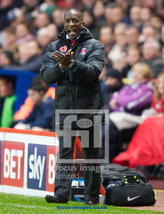 Picture by Alan Stanford/Focus Images Ltd +44 7915 056117<br /> 09/11/2013<br /> Manager Chris Powell of Charlton Athletic  during the Sky Bet Championship match at The Valley, London.