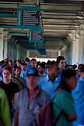 Ouro Branco_MG, Brasil...Movimentacao de pessoas na expansao de uma industria siderurgica...Workers working in the steel industry expansion...Foto: LEO DRUMOND / SAMUEL AGUIAR / NITRO.