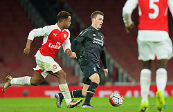LONDON, ENGLAND - Friday, March 4, 2016: Liverpool's Brooks Lennon in action against Arsenal during the FA Youth Cup 6th Round match at the Emirates Stadium. (Pic by Paul Marriott/Propaganda)