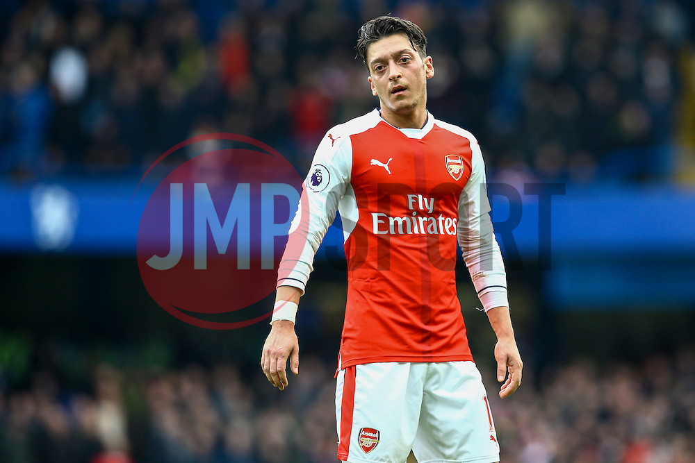 Mesut Ozil of Arsenal stands frustrated they can't penetrate Chelsea defence - Mandatory by-line: Jason Brown/JMP - 04/01/2017 - FOOTBALL - Stamford Bridge - London, England - Chelsea v Arsenal - Premier League