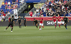 August 5, 2018 - Harrison, New Jersey, United States - Marc Rzatkowski (90) of Red Bulls controls ball during regular MLS game against LAFC at Red Bull Arena Red Bulls won 2 - 1  (Credit Image: © Lev Radin/Pacific Press via ZUMA Wire)