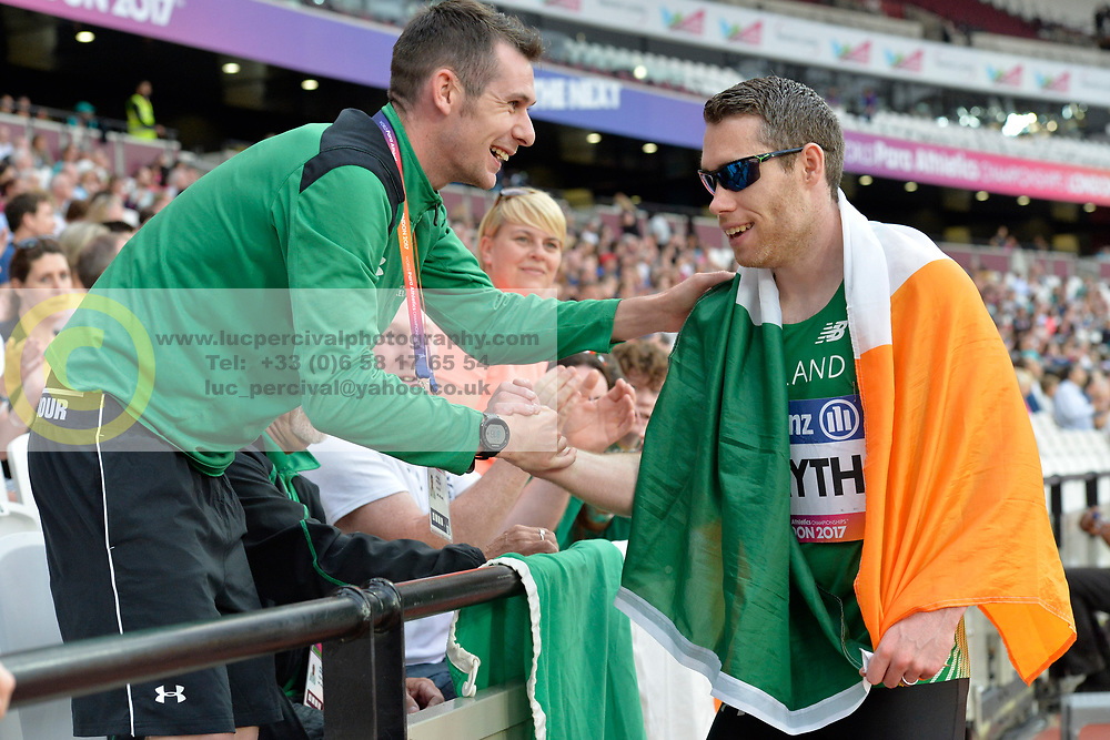 18/07/2017 : Jason Smyth (IRL), Michale McKillop (IRL), Men's 200m, at the 2017 World Para Athletics Championships, Olympic Stadium, London, United Kingdom