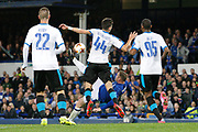Everton striker Wayne Rooney (10) tries the overhead kick during the Europa League match between Everton and Apollon Limassol at Goodison Park, Liverpool, England on 28 September 2017. Photo by Craig Galloway.