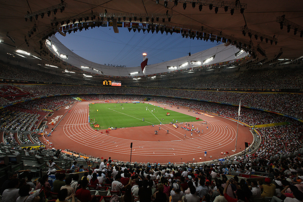 2008 Beijing Olympic Games- August 22nd, 2008 - Evening *** Inside of the Bird`s Nest Stadium *** Day 8