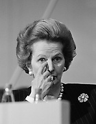 PRIME MINISTER MARGARET THATCHER at the Tory party conference Brighton 1988.  Photograph © Howard Barlow