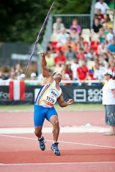 BELLO Anibal, VEN, Javelin, F11, 2013 IPC Athletics World Championships, Lyon, France