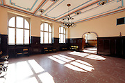 empty waiting room in the Haydarpasa train station Istanbul Turkey