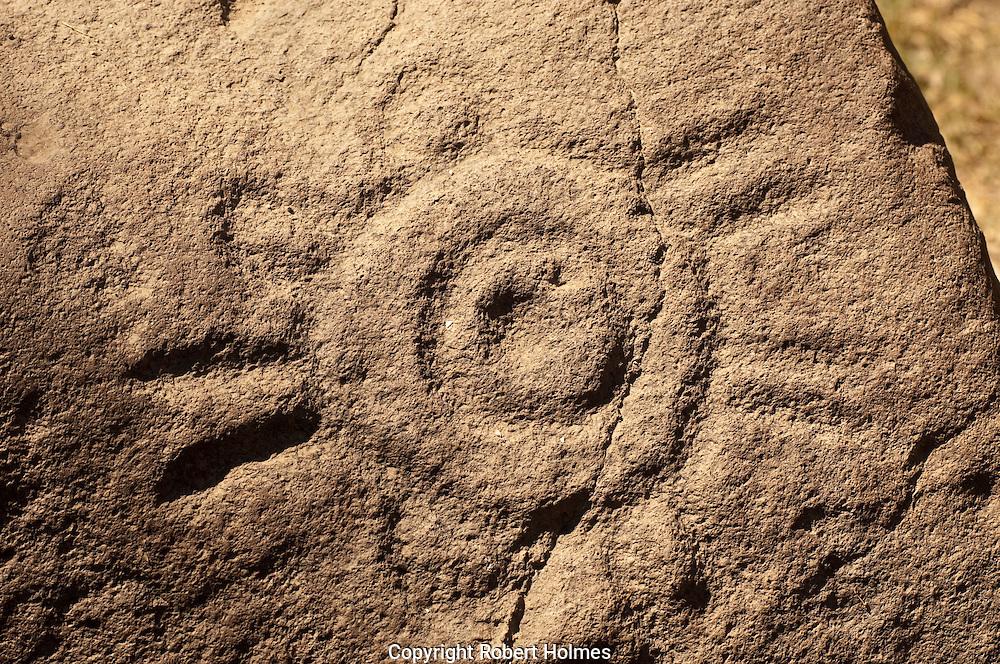Petroglyphs near El Fuerte, Sonora, Mexico