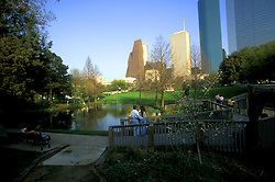 Stock photo of Tranquility Park downtown.