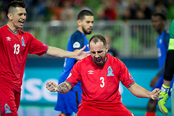 Bolinha of Azerbaijan celebrates goal during futsal match between France and Azerbaijan at Day 4 of UEFA Futsal EURO 2018, on February 2, 2018 in Arena Stozice, Ljubljana, Slovenia. Photo by Urban Urbanc / Sportida