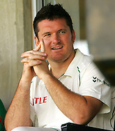 BLOEMFONTEIN, South Africa, Graeme Smith watches the rest of the innings from the team box during day 2 of the 1st Castle test between South Africa and Bangladesh at The Outsurance Oval in Bloemfontein on the 20 November 2008.Photo by: SPORTZPICS.net/SMP Images