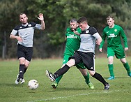 Hilltown Hotspurs (green) v Docs Hiberna (grey) in the Dundee Saturday Morning Football League at University Grounds, Riverside, Dundee, Photo by David Young<br /> <br /> <br />  - &copy; David Young - www.davidyoungphoto.co.uk - email: davidyoungphoto@gmail.com