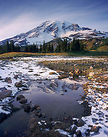 Mount Rainier 14,411 ft (4,392m) from Mazama Ridge, Mount Rainier National Park