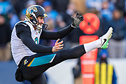 NASHVILLE, TN - DECEMBER 31:  Brad Nortman #3 of the Jacksonville Jaguars punts the ball during a game against the Tennessee Titans at Nissan Stadium on December 31, 2017 in Nashville, Tennessee.  The Titans defeated the Jaguars 15-10.  (Photo by Wesley Hitt/Getty Images) *** Local Caption *** Brad Nortman
