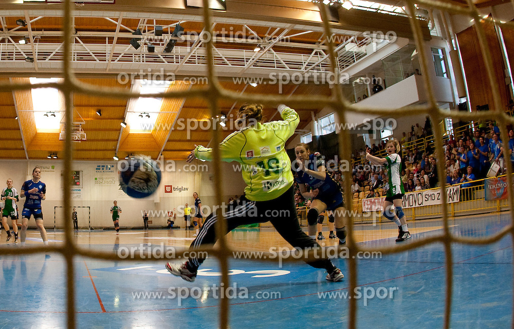 Spela Murn of Krka during handball match between ZRK Krka and RK Krim Mercator in Final of Slovenian Women Cup, on April 3, 2011, in Sports Arena Zagorje, Slovenia. (Photo by Vid Ponikvar / Sportida)