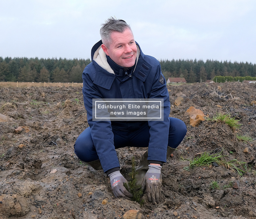**All images embargoed until 00:01 6 February**<br /> <br /> Derek Mackay Tree Planting, 5 February 2020<br /> <br /> Finance Secretary Derek Mackay visited Thornton Wood near Kelty in Fife ahead of publishing the Scottish Budget on Thursday 6 February. <br /> <br /> Tackling the global climate emergency will be at the heart of this week's Budget.<br /> <br /> During the visit, Mr Mackay planted a tree as part of the Scottish Government's commitment to support forestry creation through planting 12,000 hectares of woodland this year. This will be supported by an additional £5 million investment.<br /> <br /> The site is run by Forestry and Land Scotland, and is a former opencast mining site which is now being restored to forestry.<br /> <br /> Pictured: Finance Secretary Derek Mackay <br /> <br /> Alex Todd   Edinburgh Elite media