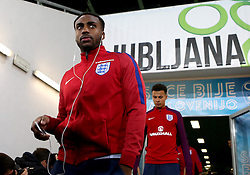 Danny Rose and Dele Ali of England arrives at The SRC Stozice Stadium ahead of the World Cup Qualifier against Slovenia - Mandatory by-line: Robbie Stephenson/JMP - 10/10/2016 - FOOTBALL - SRC Stozice - Ljubljana, England - England Press Conference