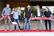 Jason Aldean helps cut the ribbon on BMG Nashvilles new offices on September 10, 2019 in Nashville, TN